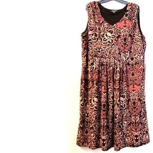 24W Roaman's Fit & Flare Dress - Sleeveless